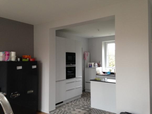 Travaux peinture intérieure dans une cuisine